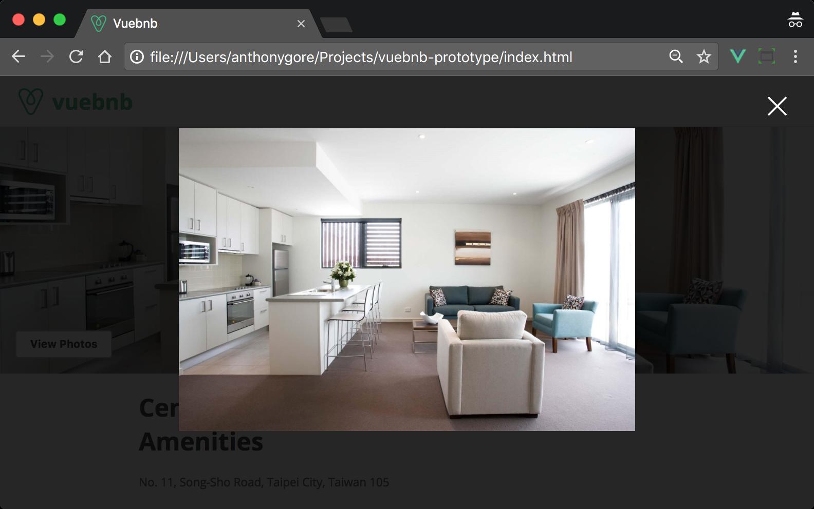Image modal window - Full-Stack Vue js 2 and Laravel 5