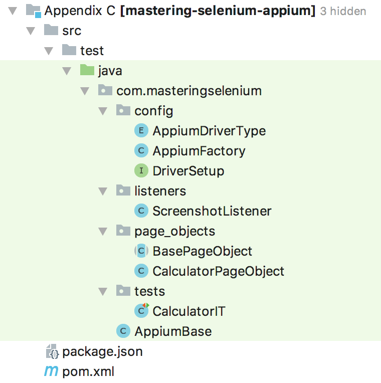 Creating an Appium framework - Mastering Selenium WebDriver