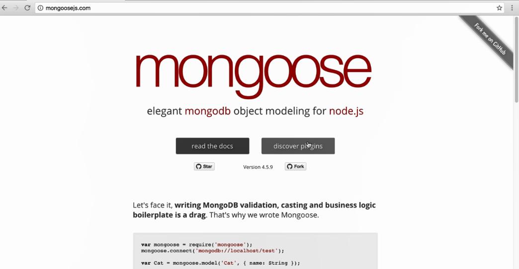 Setting up Mongoose - Advanced Node js Development