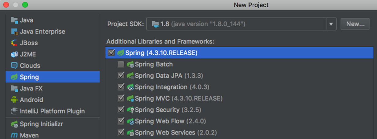 Creating Spring project with IntelliJ - Building Applications with