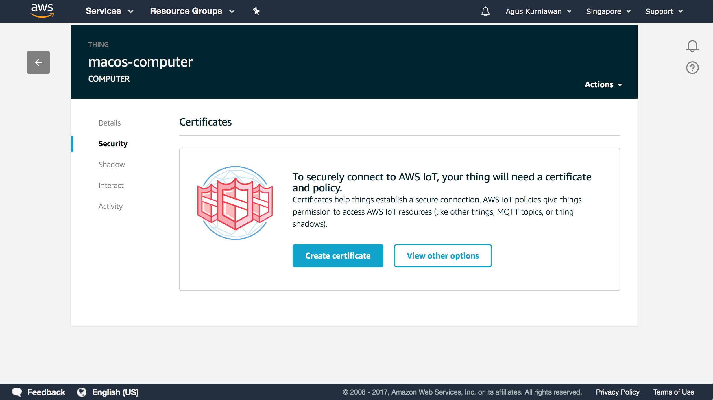 Setting up AWS IoT for your IoT project - Learning AWS IoT