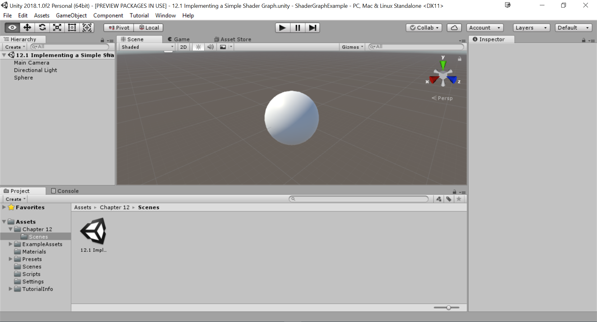 Implementing a simple a Shader Graph - Unity 2018 Shaders