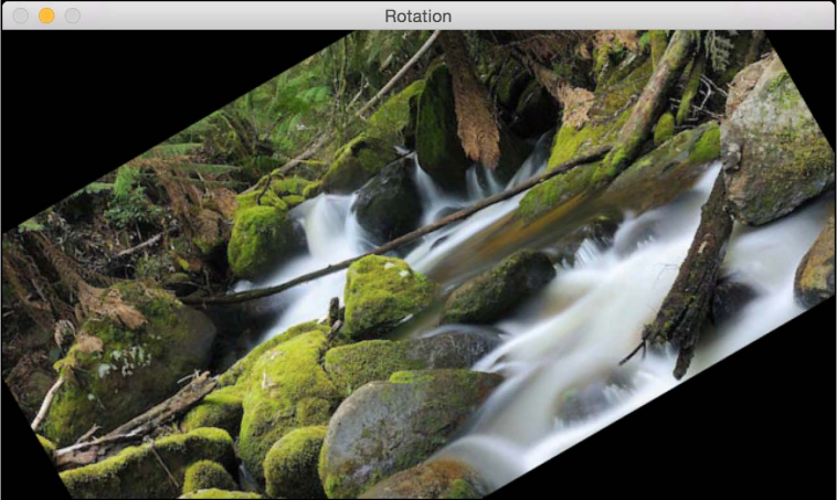Image rotation - OpenCV 3 x with Python By Example - Second