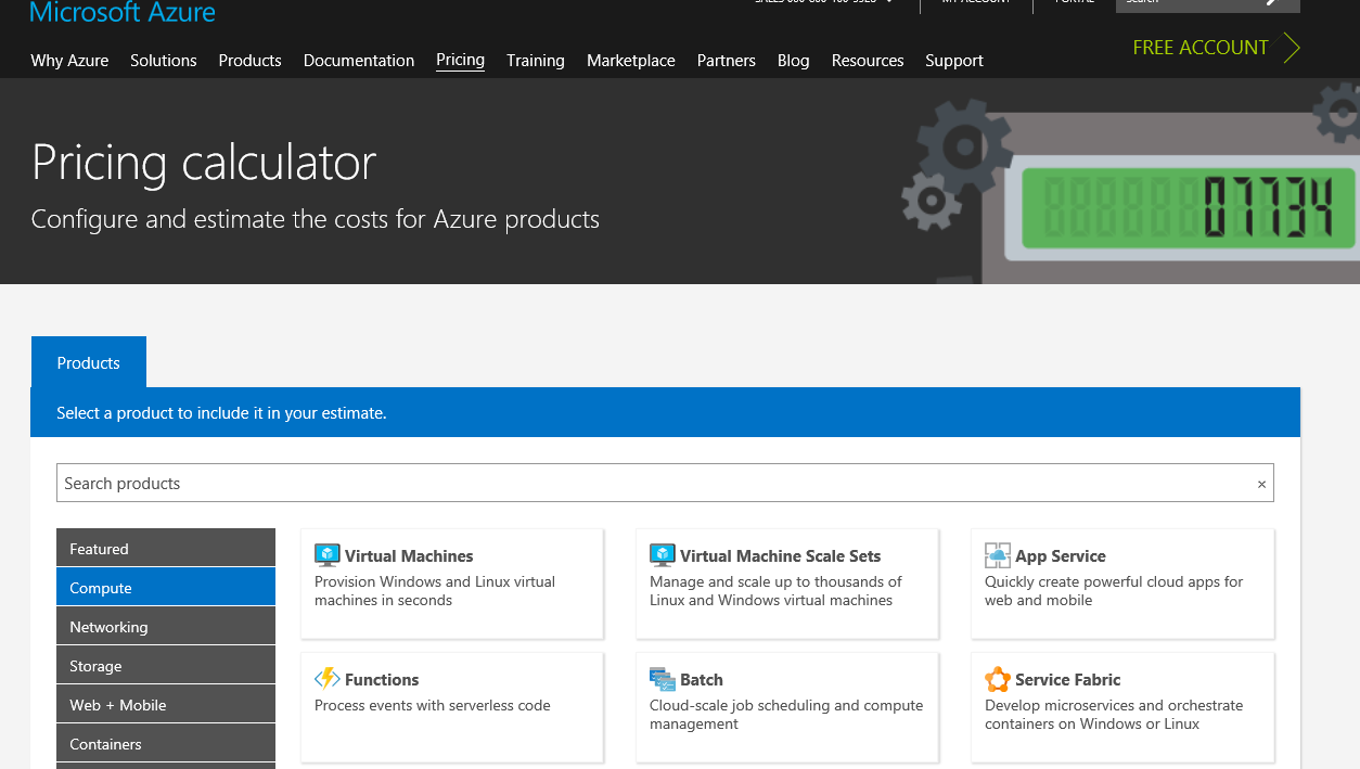 Azure pricing calculator - Azure for Architects