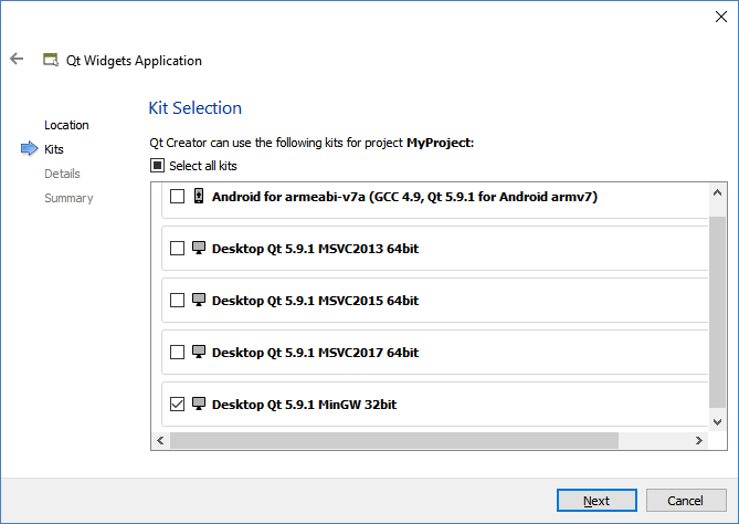 Running our first Hello World Qt program - Hands-On GUI