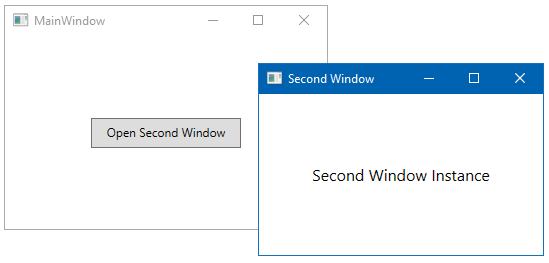 Creating and navigating from one window to another - Windows
