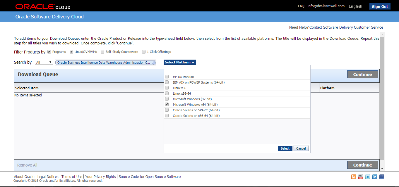Downloading the latest version of Informatica PowerCenter - 10 1 0