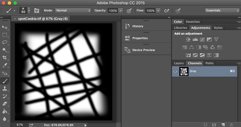 Creating and applying a cookie texture to a spotlight