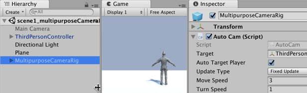 Working with Unity's multi-purpose camera rig - Unity 2018