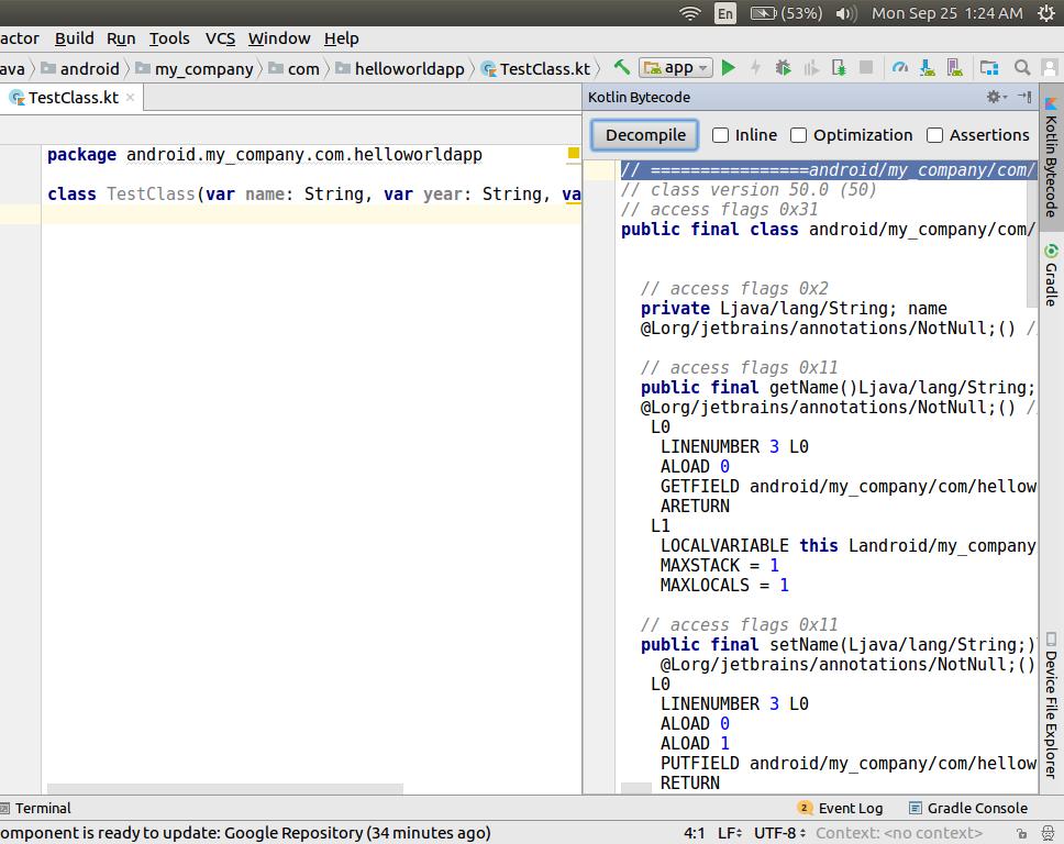 Converting Java code to Kotlin and vice versa - Kotlin