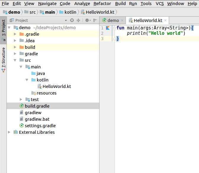 How to use Gradle to run Kotlin code - Kotlin Programming Cookbook