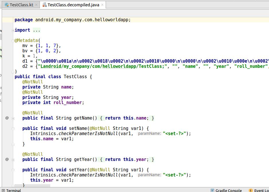 Converting Java code to Kotlin and vice versa - Kotlin Programming