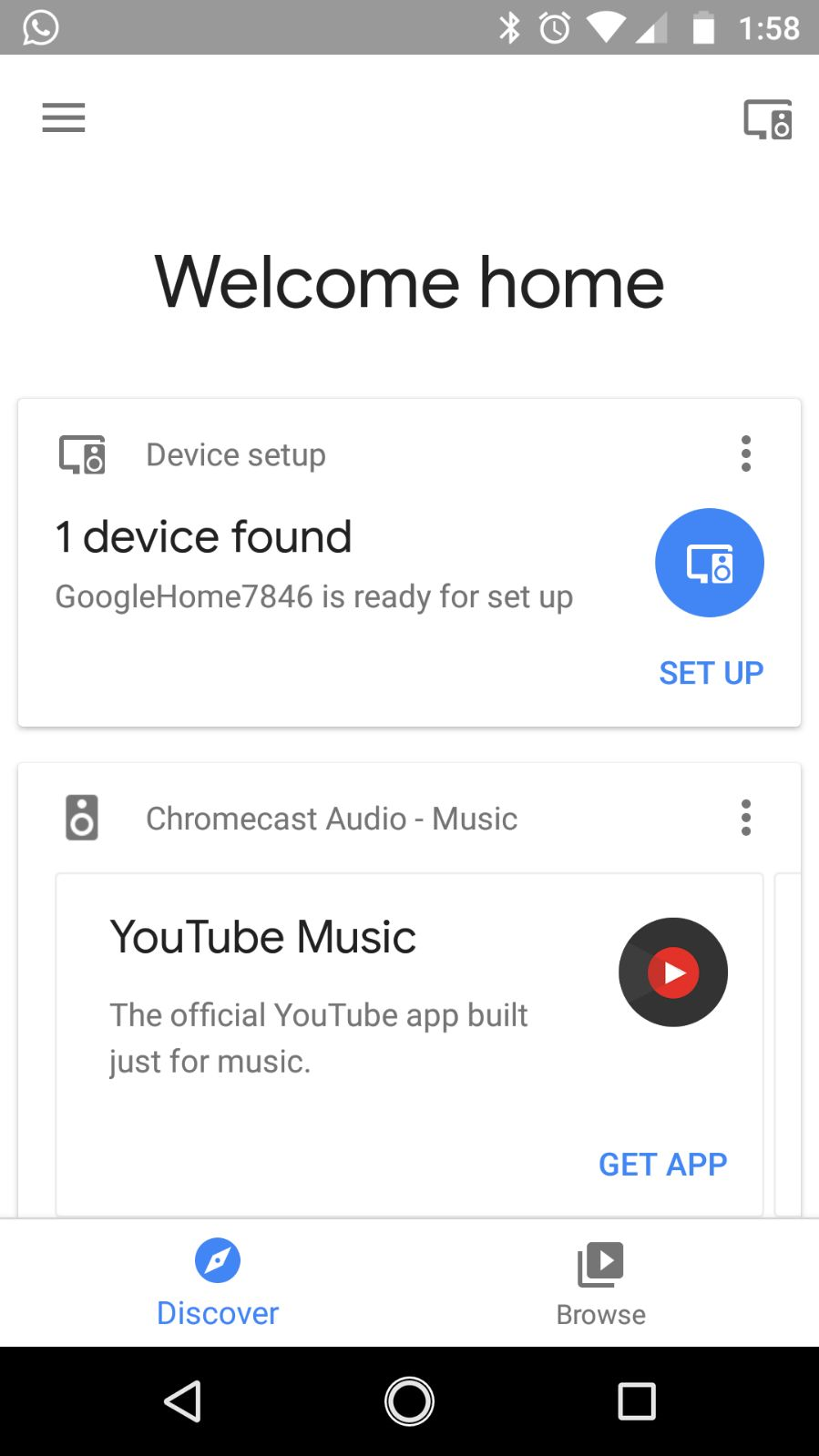 Setting up Google Home for the first time - Voice User