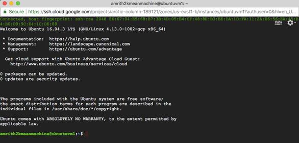 Installing and configuring Ubuntu Desktop for Google Cloud Platform