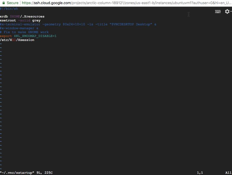 Installing and configuring Ubuntu Desktop for Google Cloud