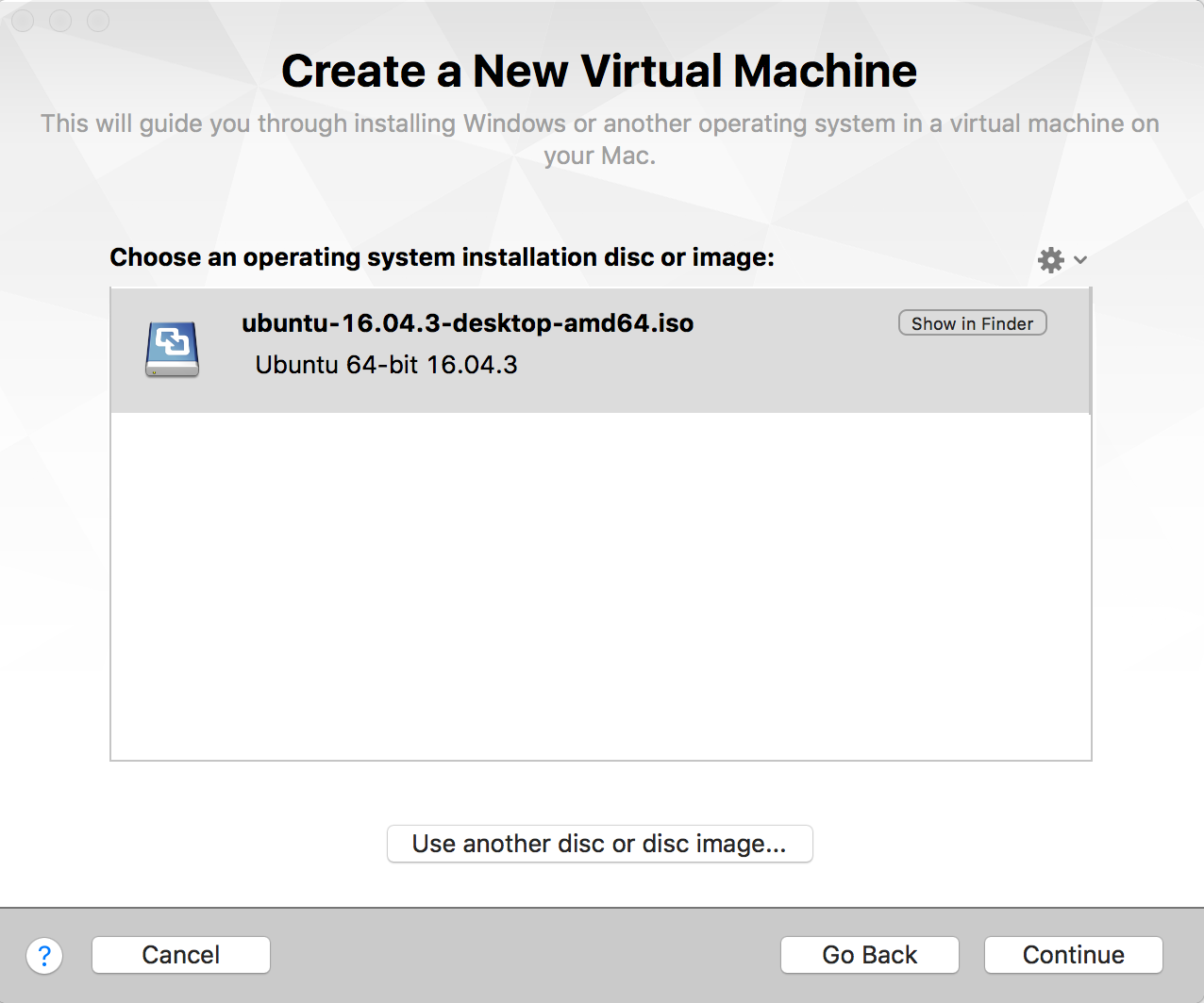 Installing and configuring Ubuntu with VMWare Fusion on