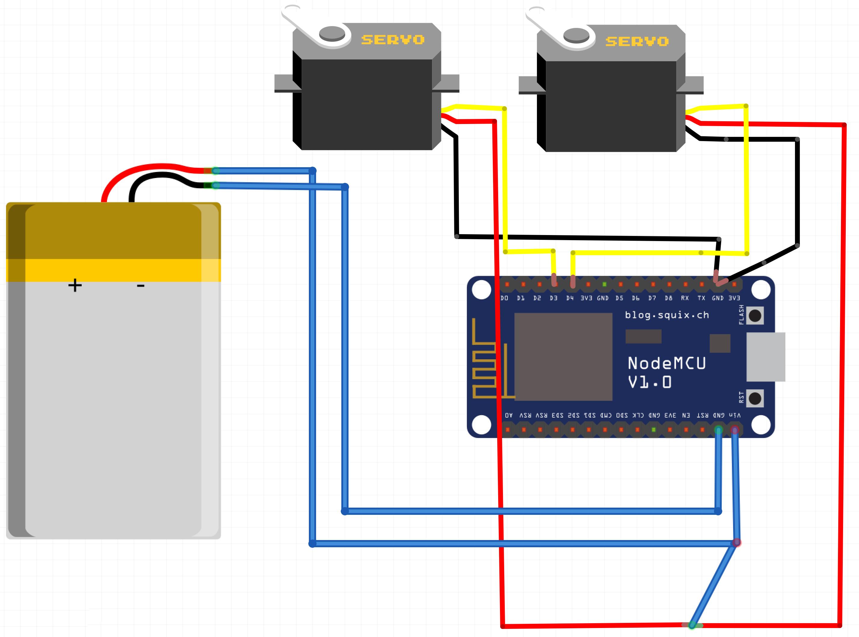 Controlling the camera gimbal using ESP8266 - Building Smart