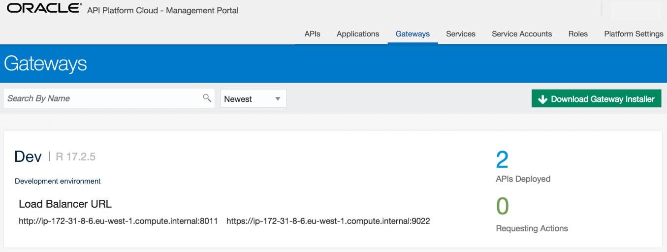 Platform architecture - Implementing Oracle API Platform