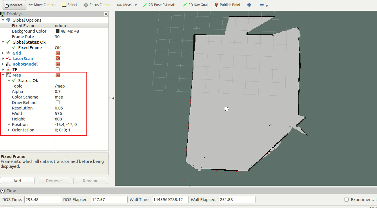 Building a map using SLAM - Mastering ROS for Robotics
