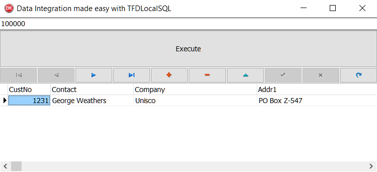 Data integration made easy – TFDLocalSQL - Delphi Cookbook - Third