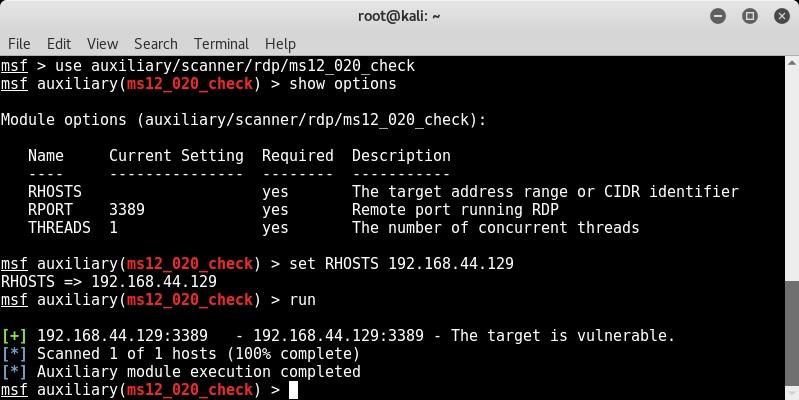 Vulnerability detection with Metasploit auxiliaries - Metasploit