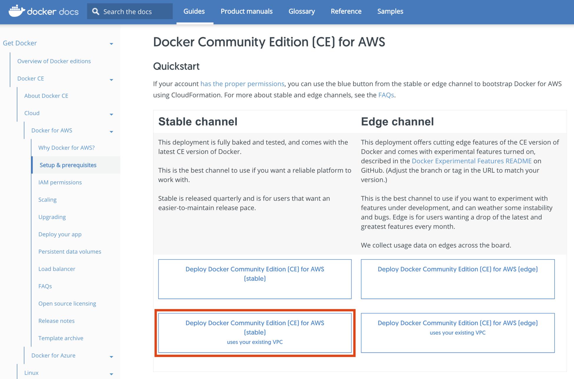 Installing Docker for AWS - Docker on Amazon Web Services