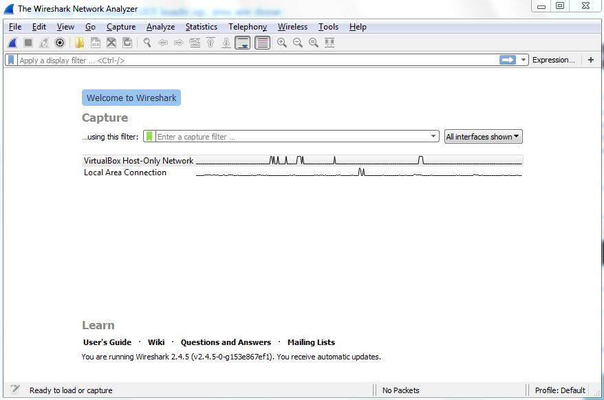 Installation and setup - Mastering Wireshark 2