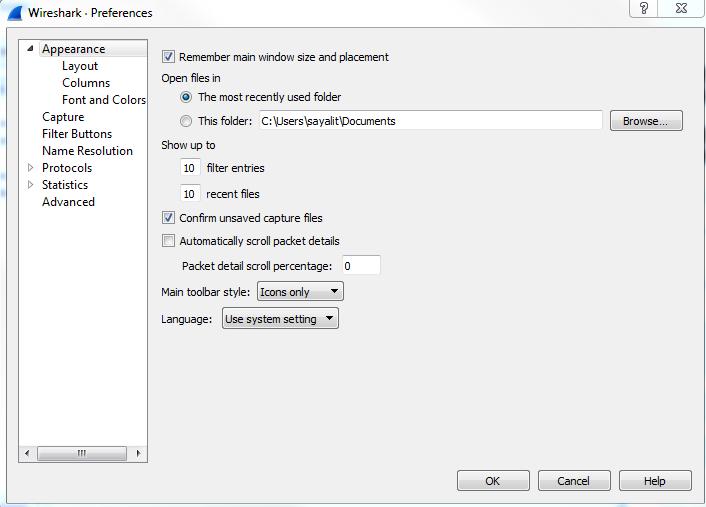 Preferences - Mastering Wireshark 2