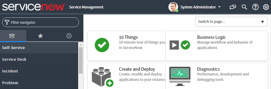 Understanding the Service-Now IT view - ServiceNow: Building