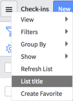 Controlling lists with Context Menus - ServiceNow: Building Powerful