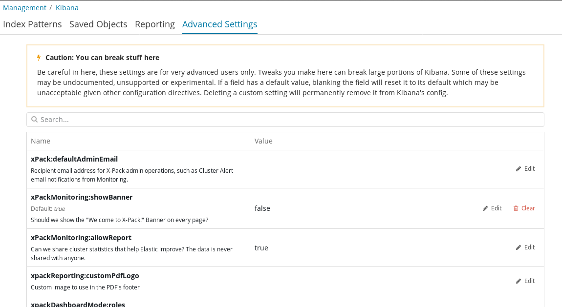 Advanced settings - Mastering Kibana 6 x