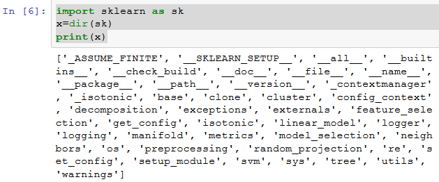 Introduction to Python packages – sklearn (scikit-learn