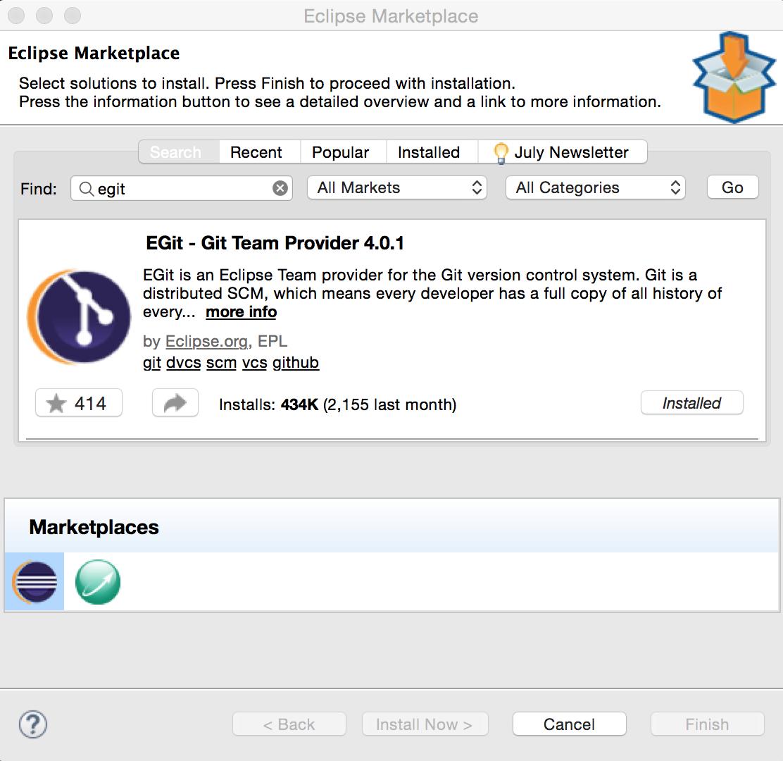 Eclipse Git plugin - Java EE 8 Development with Eclipse