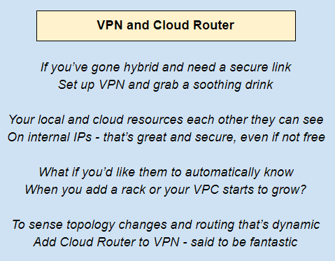 VPN and cloud router - Google Cloud Platform for Architects