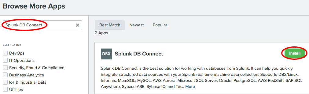 Getting data from databases using DB Connect - Splunk Operational