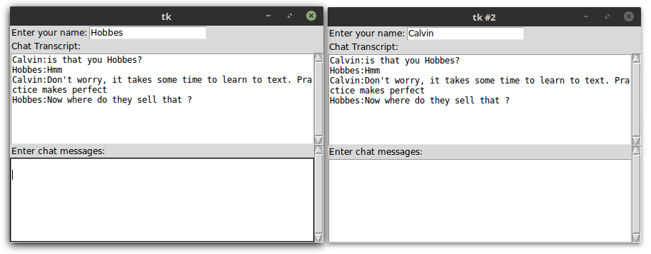 Building a chat application - Tkinter GUI Application Development