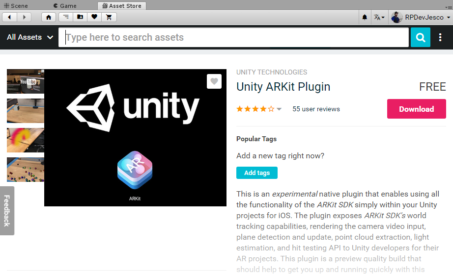 Building our first AR applications - Unity 2018 Augmented