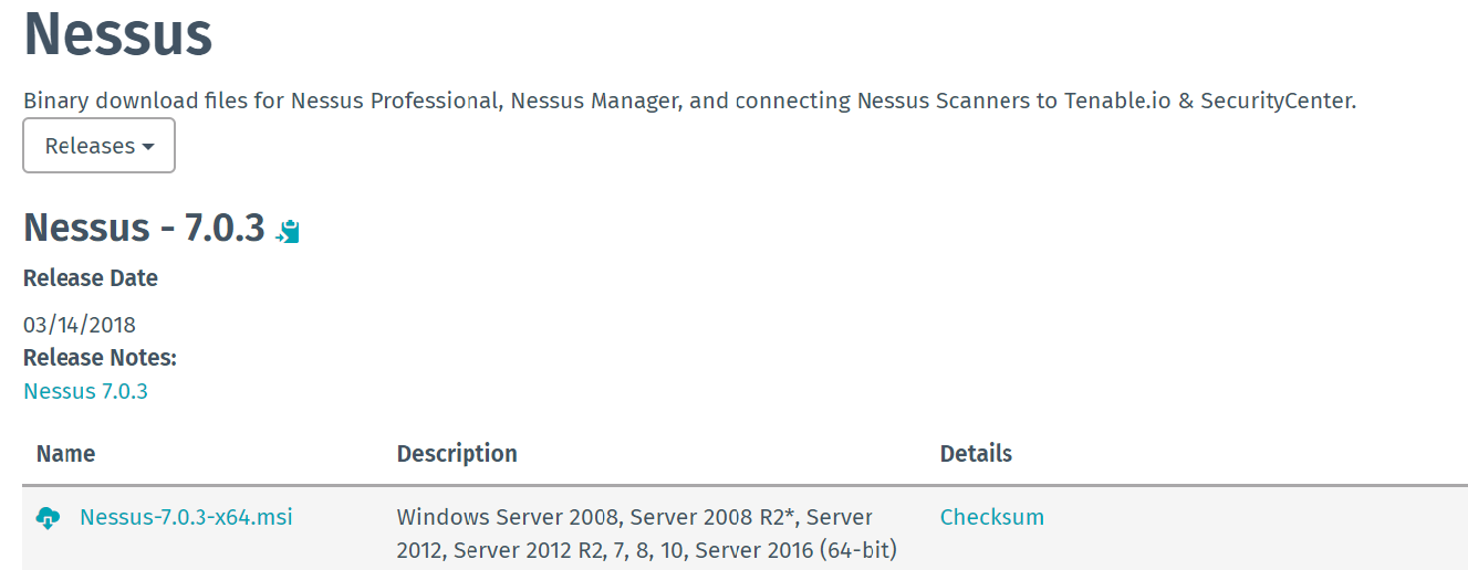Nessus installation, configuration, and vulnerability