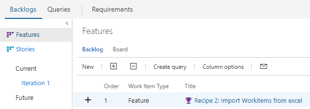 Importing requirements from Excel - Azure DevOps Server 2019