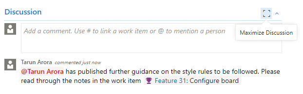 Getting social with work items - Azure DevOps Server 2019