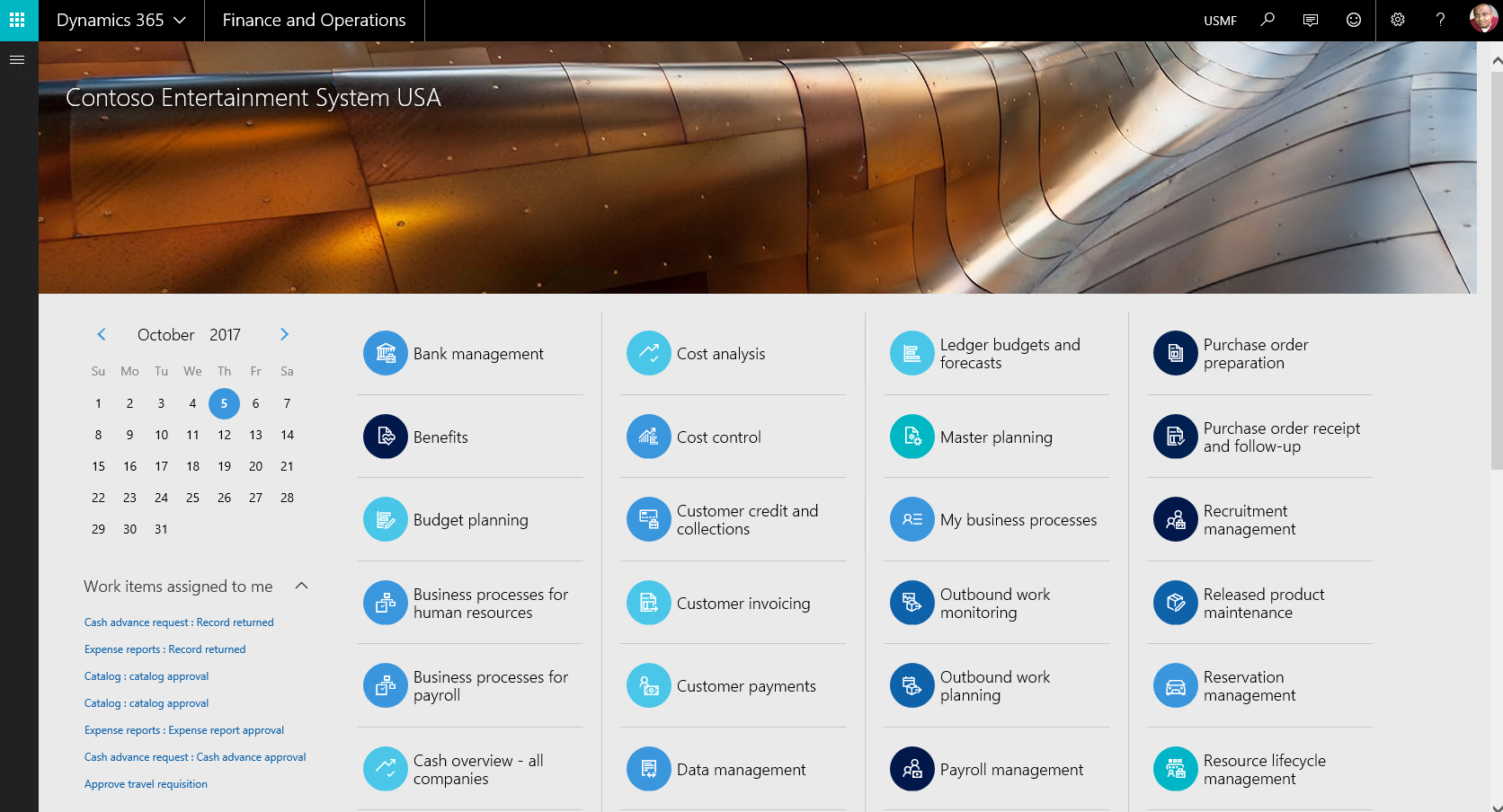 Looking at the Microsoft Dynamics 365 for Finance and