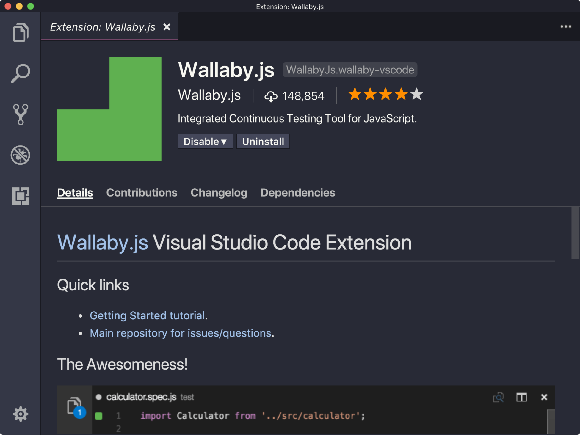 Using Wallaby js for a better testing experience - Vue js 2 Design