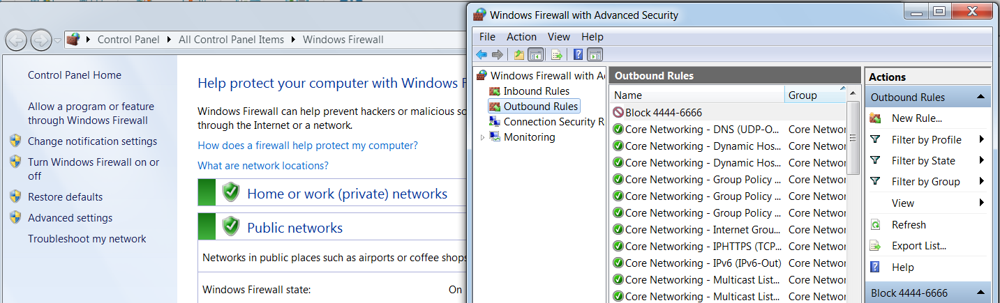 Bypassing Windows firewall blocked ports - Mastering