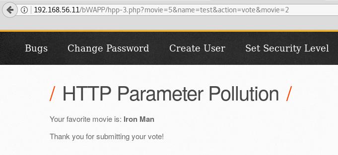 Exploiting HTTP parameter pollution - Kali Linux Web