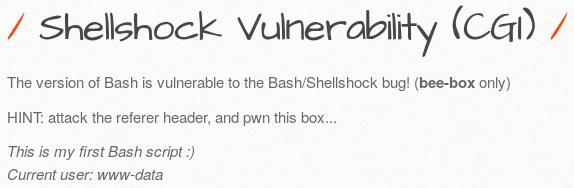 Executing commands by exploiting Shellshock - Kali Linux Web