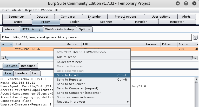 Using Burp Suite's Intruder to find files and folders - Kali