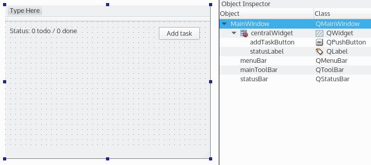 Qt Designer interface - Mastering Qt 5 - Second Edition