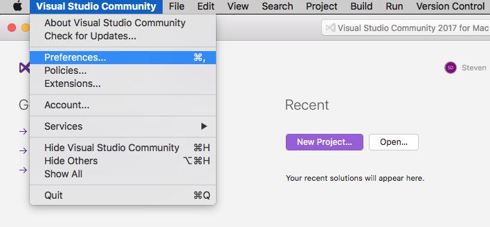 Exploring the Microsoft Visual Studio for Mac IDE