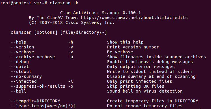 Scanning with ClamAV - Practical Linux Security Cookbook